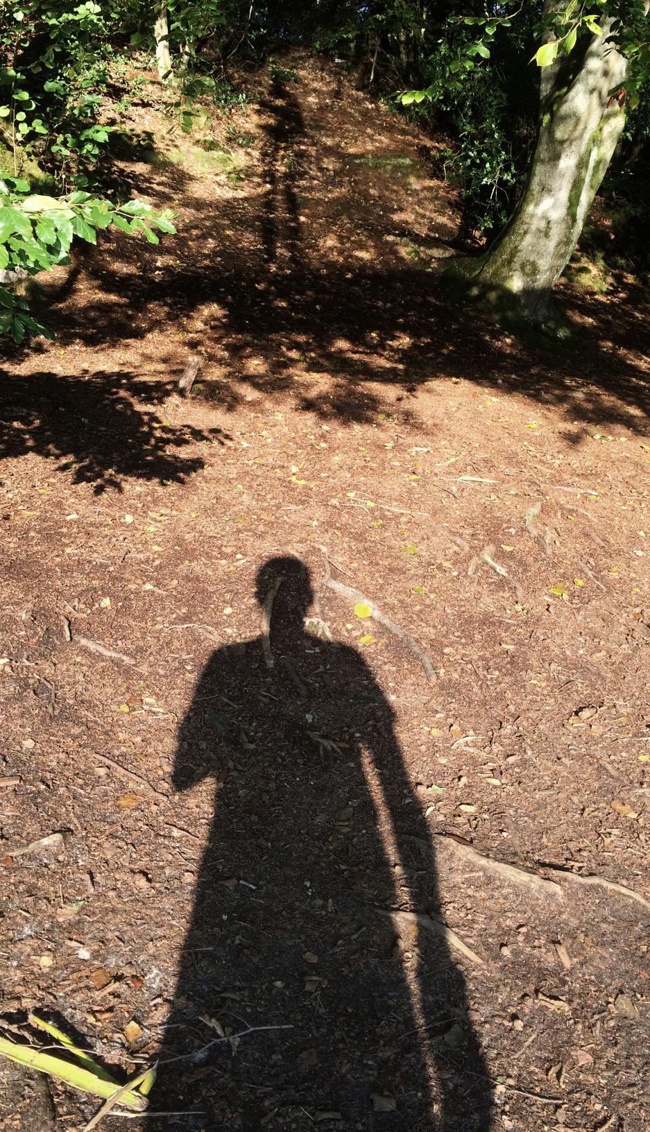 Doppelter Schattenwurf durch 1. die Sonne selbst und 2. ihre Reflexion auf der Seeoberfläche
