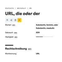 URL, die oder der